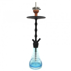 Cachimba Caesar Captain - Matt Black Shining Light Blue -