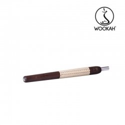 Boquilla Wookah Merbau Beige Leather