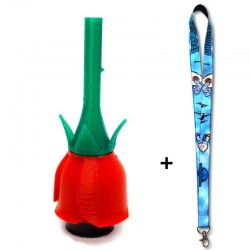 Boquilla Personal 3D Red Rose + Lanyard